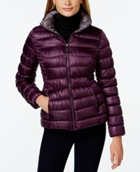 Inc International Concepts Packable Puffer Coat Only At Macy's Bordeaux Sterling
