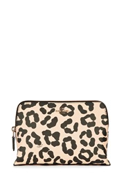 Coach Pale Peach Leopard Print Cosmetics Case