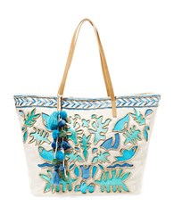 Steve Madden Jtucker Beaded Tote Blue Multi