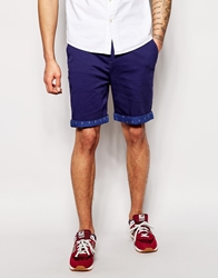 Clwr Chino Shorts With Anchor Contrast Hem Patriot