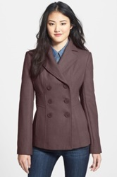 Kenneth Cole New York Wool Blend Peacoat Purple