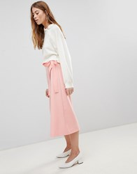 Asos Tailored Midi Simple Wrap Pink
