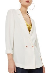 Topshop Ava Double Breasted Jacket Ivory