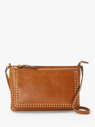 And Or Isabella Leather Cross Body Bag Tan