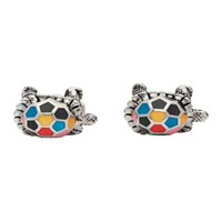 Paul Smith Silver And Multicolor Turtle Cufflinks