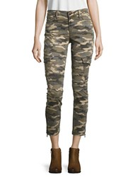 True Religion Cropped Camouflage Jeans Green