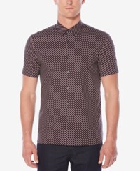 Perry Ellis Men's Classic Fit Geo Print Shirt Dark Blue