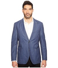Kroon Vintage Washed Bono Two Button Blazer Blue Men's Coat