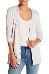Kier And J Button Up Cardigan White