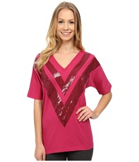 Lole Gigi Top Roses Women's Short Sleeve Pullover Red