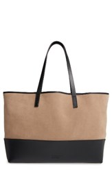 Pedro Garcia East West Suede And Leather Tote