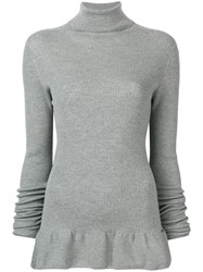 Fay Roll Neck Sweater Grey