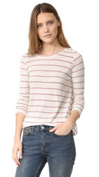 Intropia Striped Long Sleeve Tee White Print