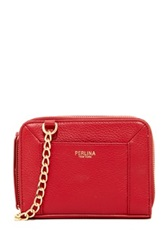 Perlina Amber Ii Double Zip Leather Crossbody Red