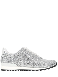 Casadei Limited Edition Glittered Sneakers Silver