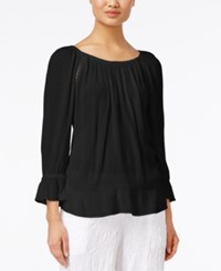 Inc International Concepts Long Sleeve Peasant Top Only At Macy's Deep Black