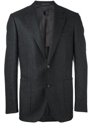 Caruso Two Button Blazer Black
