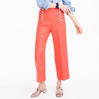 J.Crew Petite Sailor Pant In Heavy Linen