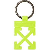 Off White Yellow Arrows Keyring