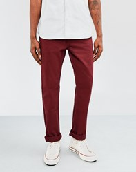 The Idle Man Straight Leg Chino Burgundy