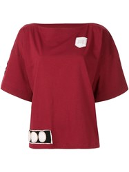 Marni Boat Neck Patch T Shirt Red