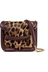 Alexander Mcqueen Heroine Leopard Print Calf Hair And Leather Shoulder Bag Leopard Print