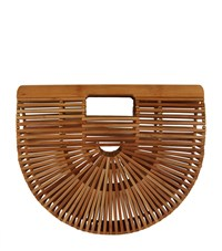 Cult Gaia Small Bamboo Ark Bag Brown