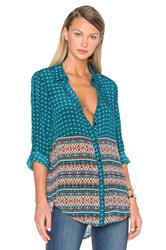 Tolani Selina Button Up Turquoise