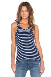 Hye Park And Lune Mia Racerback Tank Navy And White
