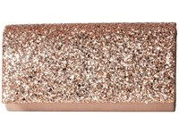 Jessica Mcclintock Chloe Glitter Flap Clutch Rose Gold Clutch Handbags
