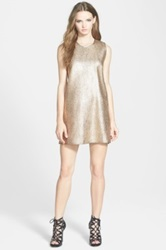 Whitney Eve 'Butterfly Ginger' Shift Dress Metallic