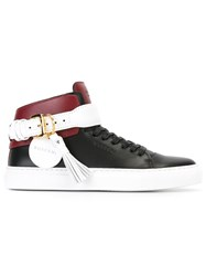 Buscemi Buckled Strap Detail Sneakers Black