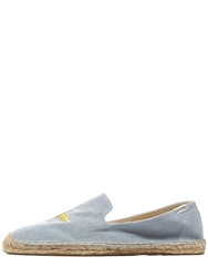 Soludos Embroidered Cotton Denim Espadrilles Light Blue