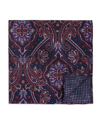 Bloomingdale's The Men's Store At Double Sided Paisley And Houndstooth Pocket Square Navy