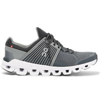 On Cloudswift Rubber Trimmed Mesh Running Sneakers Gray
