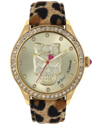 Betsey Johnson Women's Leopard Print Leather Strap Watch 42Mm Bj00517 24