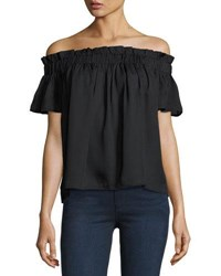 Lucca Couture Off The Shoulder Blouse Black
