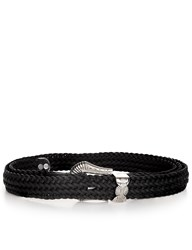 Y Project Black Leather Braided Western Belt
