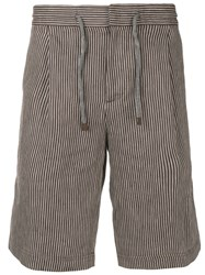 Brunello Cucinelli Pinstriped Shorts Brown