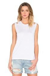 Feel The Piece Mattias Slit Shoulder Tank White