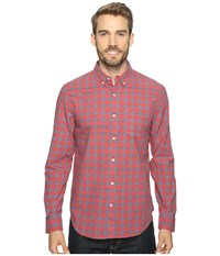 Lucky Brand Washed Black Label Shirt Red Blue Men's Long Sleeve Button Up