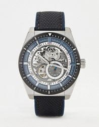 Boss 1513643 Signature Leather Watch Black