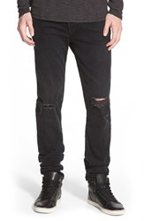 Rag And Bone Men's Standard Issue 'Fit 1' Skinny Fit Jeans Rock With Holes