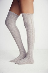 Free People Fray Ii Pointelle Over The Knee Sock