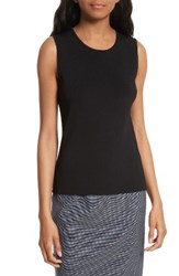 Boss Women's Fedelia Rib Knit Shell Black