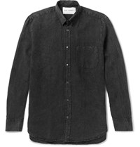 Our Legacy Generation Linen And Cotton Blend Shirt Charcoal