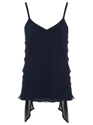 Giuliana Romanno Silk Top Blue