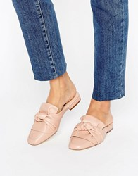 London Rebel Bow Mule Shoe Pink Pu