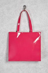 Forever 21 Faux Patent Leather Tote Bag Pink