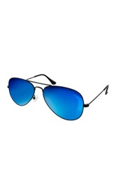 Aqs Sunglasses Unisex Oliver Mirrored Aviator Sunglasses Blue